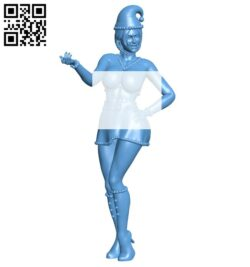 Christmas girl B008305 file stl free download 3D Model for CNC and 3d printer