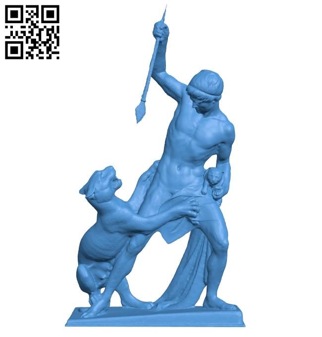 Classical sculpture B008105 file stl free download 3D Model for CNC and 3d printer