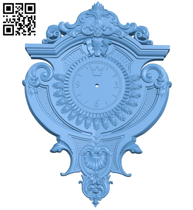 Clock pattern decor A005395 download free stl files 3d model for CNC wood carving