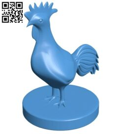 Cock – rooster B008100 file stl free download 3D Model for CNC and 3d printer