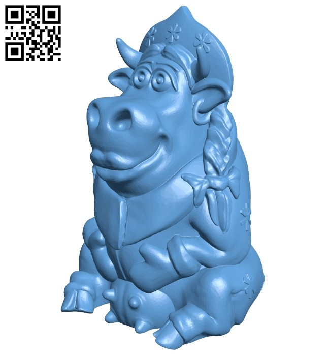 Cow B008317 file stl free download 3D Model for CNC and 3d printer