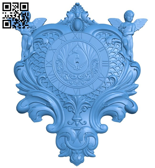 Decor clock pattern A005264 download free stl files 3d model for CNC wood carving