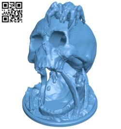 Deserts kiss – skull B008293 file stl free download 3D Model for CNC and 3d printer