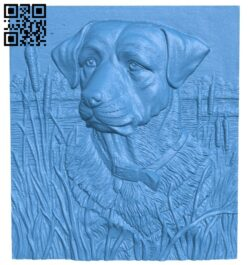 Dog painting A005272 download free stl files 3d model for CNC wood carving