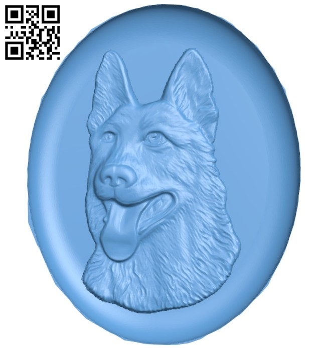 Dog painting A005410 download free stl files 3d model for CNC wood carving