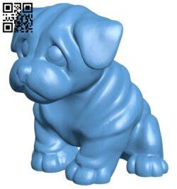 Dog – pes B008272 file stl free download 3D Model for CNC and 3d printer