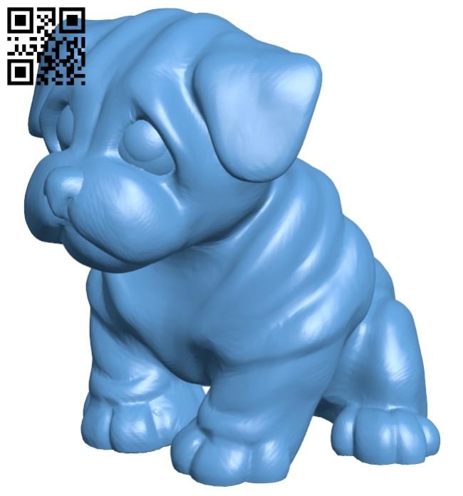 Dog - pes B008272 file stl free download 3D Model for CNC and 3d printer