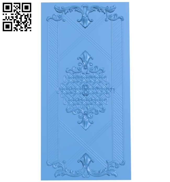 Door pattern A005247 download free stl files 3d model for CNC wood carving