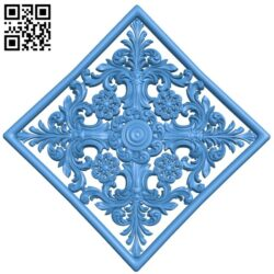 Door pattern A005249 download free stl files 3d model for CNC wood carving