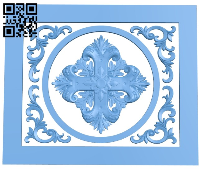 Door pattern A005342 download free stl files 3d model for CNC wood carving