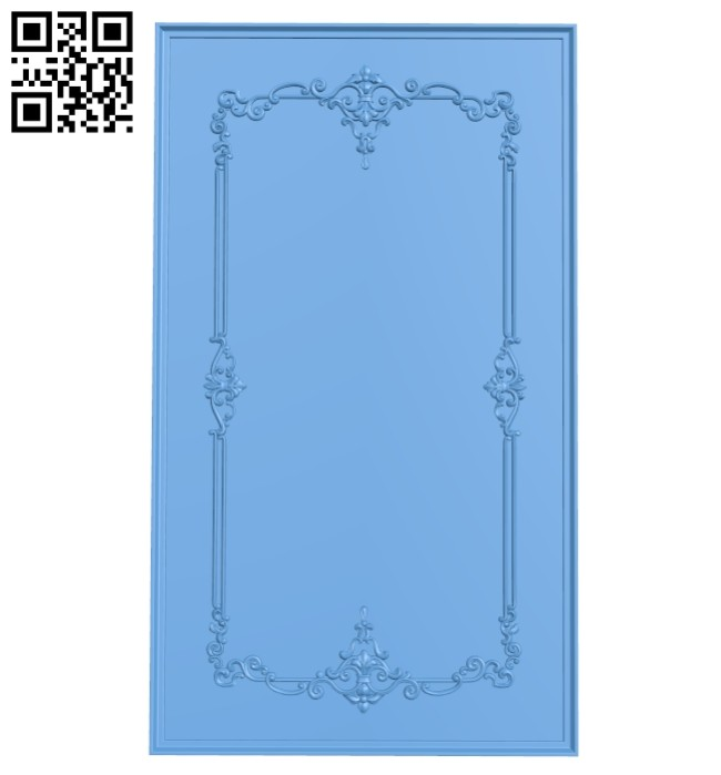 Door pattern A005346 download free stl files 3d model for CNC wood carving