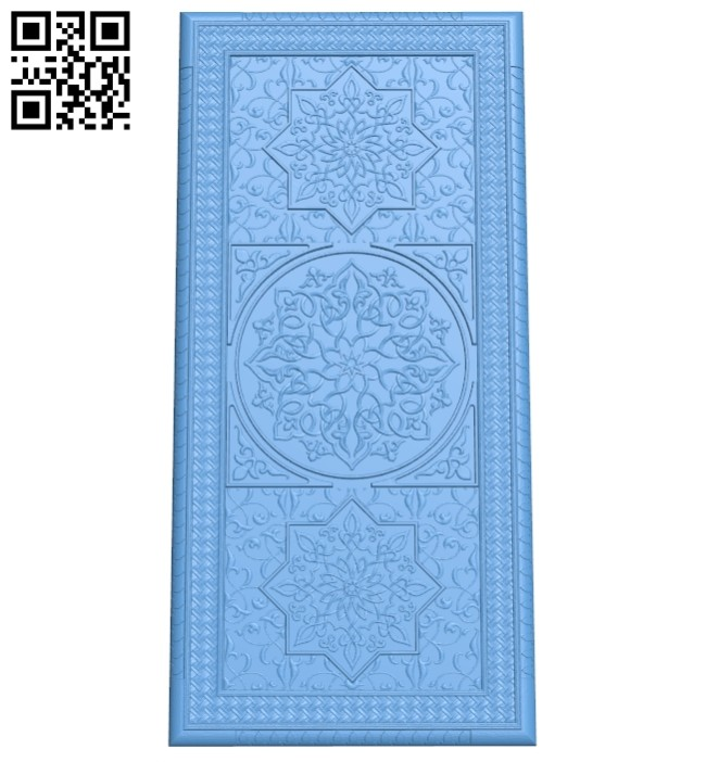 Door pattern A005384 download free stl files 3d model for CNC wood carving