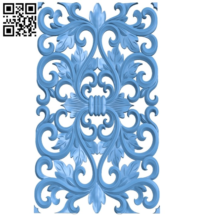 Door pattern A005385 download free stl files 3d model for CNC wood carving