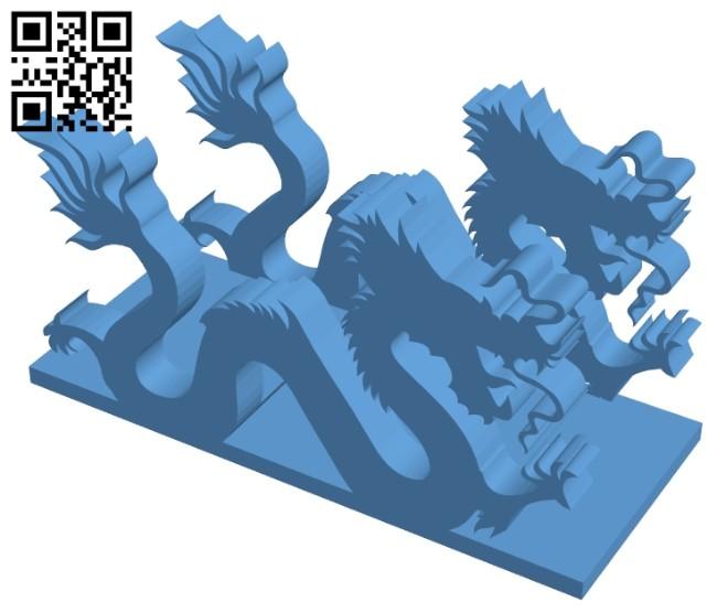 Dragon B008325 file stl free download 3D Model for CNC and 3d printer