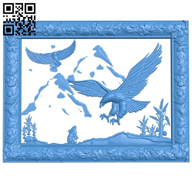 Eagles go hunting A005265 download free stl files 3d model for CNC wood carving