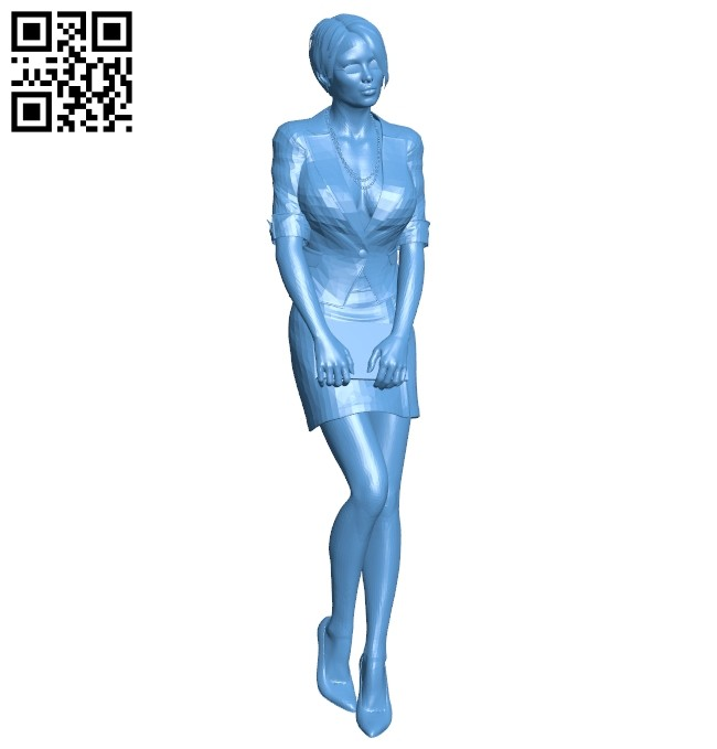 Female accountant B008246 file stl free download 3D Model for CNC and 3d printer