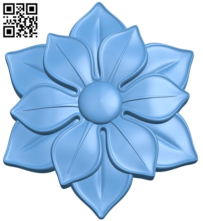 Flower pattern A005310 download free stl files 3d model for CNC wood carving