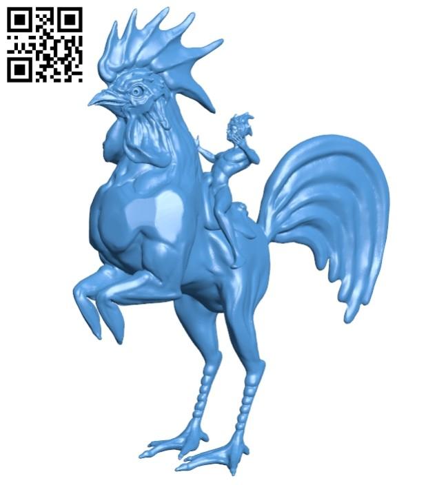 Gallo caballo jinete B008048 file stl free download 3D Model for CNC and 3d printer
