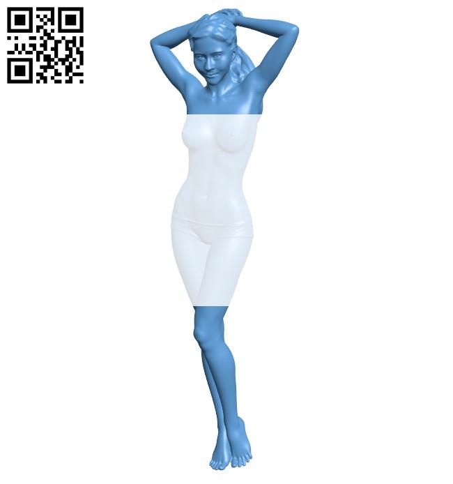 Girl B008301 file stl free download 3D Model for CNC and 3d printer