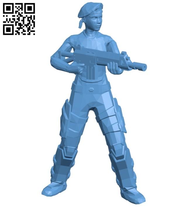 Girl in beret B008220 file stl free download 3D Model for CNC and 3d printer