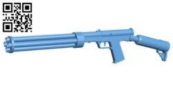 Gun SMG-60 B008258 file stl free download 3D Model for CNC and 3d printer