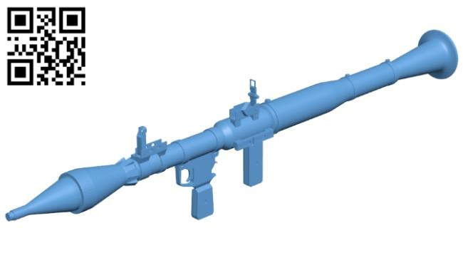 Gun grenade launcher RPG-7 B008291 file stl free download 3D Model for CNC and 3d printer