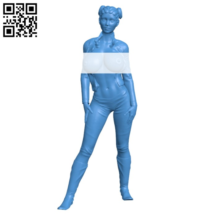 Hells angels girl B008113 file stl free download 3D Model for CNC and 3d printer