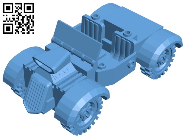 Hot rod - car zip B008276 file stl free download 3D Model for CNC and 3d printer