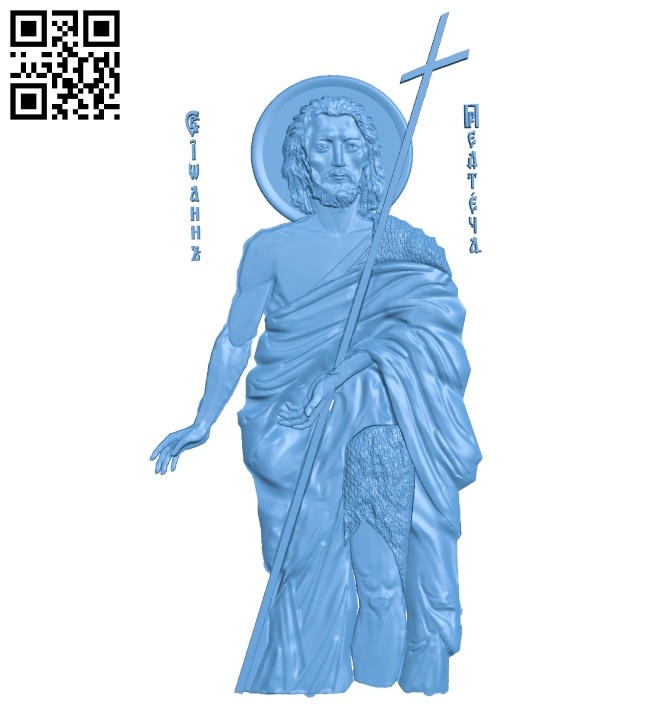 Icon John the Baptist A005363 download free stl files 3d model for CNC wood carving