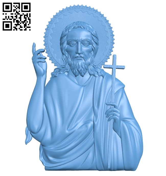 Icon John the Baptist A005406 download free stl files 3d model for CNC wood carving