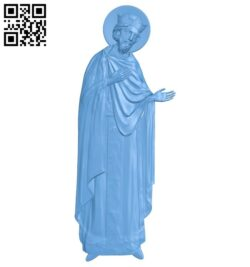 Icon Saint David A005362 download free stl files 3d model for CNC wood carving