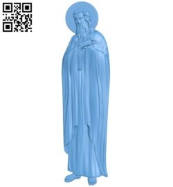 Icon of Saint Isaiah A005360 download free stl files 3d model for CNC wood carving