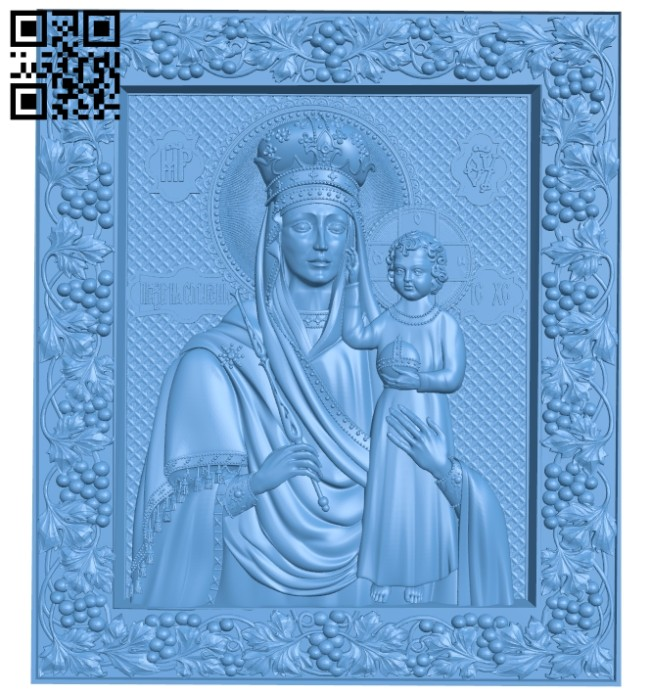 Icon of the Prize of Humility A005358 download free stl files 3d model for CNC wood carving