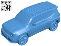 Jeep renegade – car B008041 file stl free download 3D Model for CNC and 3d printer