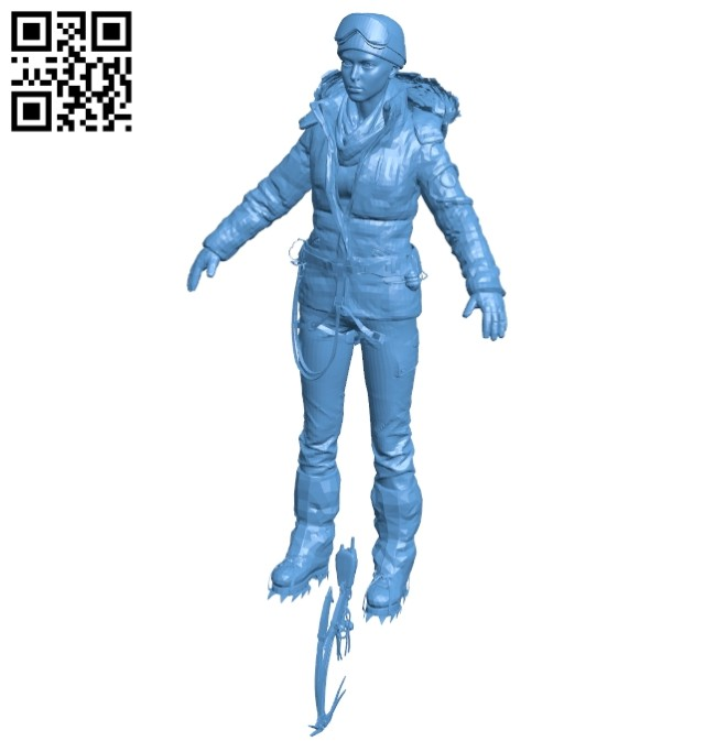 Lara has a girl climbing the mountain B008279 file stl free download 3D Model for CNC and 3d printer