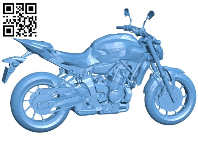 Large displacement motorcycle B008168 file stl free download 3D Model for CNC and 3d printer