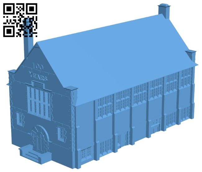 Library house B008266 file stl free download 3D Model for CNC and 3d printer