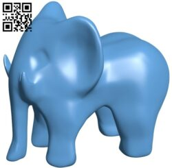 Low poly elephant B008288 file stl free download 3D Model for CNC and 3d printer