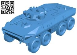 Luchs tank B008075 file stl free download 3D Model for CNC and 3d printer