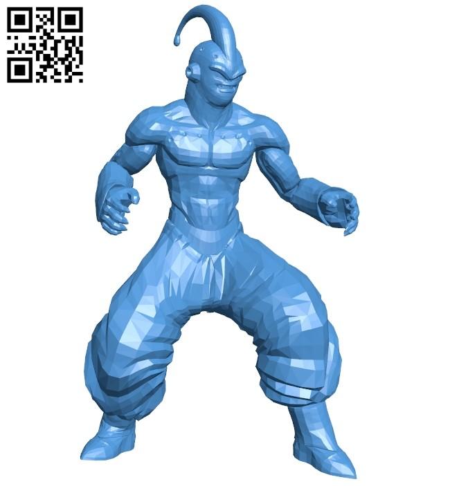 Majin Boo - 7 dragon balls B008114 file stl free download 3D Model for CNC and 3d printer