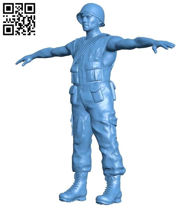 Man - us marine B008218 file stl free download 3D Model for CNC and 3d printer