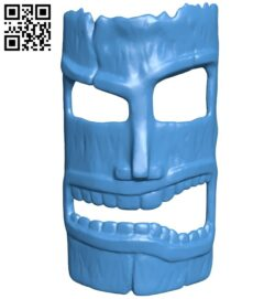 Mask tiki B008106 file stl free download 3D Model for CNC and 3d printer