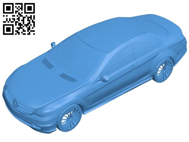 Mercedes benz CL600 car B008090 file stl free download 3D Model for CNC and 3d printer