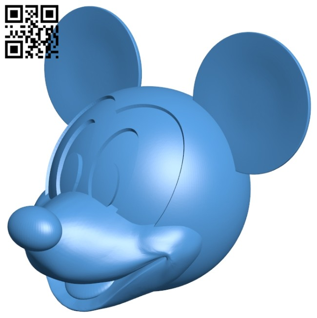 Mickey head B008128 file stl free download 3D Model for CNC and 3d printer