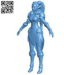 Miss Arcane Mage B008277 file stl free download 3D Model for CNC and 3d printer