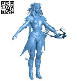 Miss Artemis B008297 file stl free download 3D Model for CNC and 3d printer