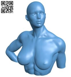 Miss Donna bust B008316 file stl free download 3D Model for CNC and 3d printer