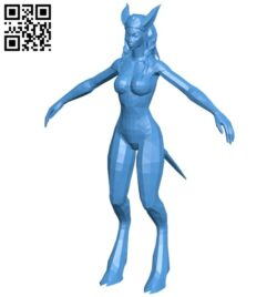Miss Draenei B008043 file stl free download 3D Model for CNC and 3d printer