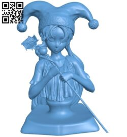 Miss Shelfaniel bust B008158 file stl free download 3D Model for CNC and 3d printer