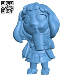 Miss Taro B008227 file stl free download 3D Model for CNC and 3d printer